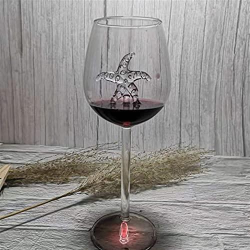 Copa de Vidrio Whisky Cena Decorar un Cristal Hecho a Mano para el Vidrio de Fiesta Copa de Vino de tiburón Incorporado Chenhuanbakeyji (Color : Blue)