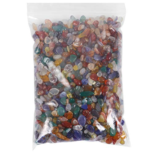 GARNECK Piedras de Cristal Natural Pulidas Caídas Piedras Preciosas Chips Caídas Cristales Triturados Rellenos de Jarrones de Forma Irregular 300G