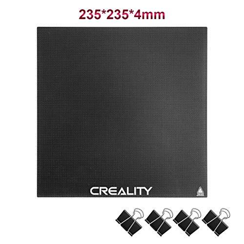 Creality Ender 3 Glasplatte, Verbesserte 3D Drucker Plattform, 235 x 235 x 4 mm