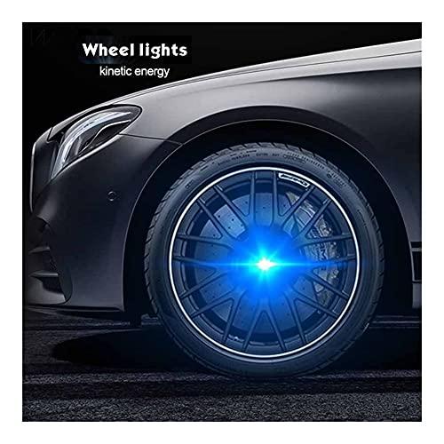 SYWY Coper Light Car FLOUMINACIÓN DE ILLUMINACIÓN Capa DE Ruedas DE LUZ LED Cubierta DE LA Cubierta DE LUZ Capa Compatible con Benz Honda Passat Golf BMW E39 Rueda CEN (Color : For Ford 54mm)
