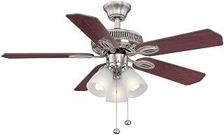 Hampton Bay Glendale 42 in. Brushed Nickel Ceiling Fan - Reversible Blades