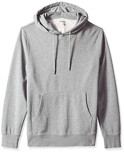 Amazon Brand - Goodthreads Men's Pullover Fleece Hoodie, Grey Heather, Large