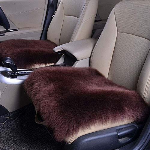 JK 18 x 18 inch luxe schapenvacht lange pluizige wol vierkante auto stoel kussenslopen stoel bank pad 18X18inch BRON