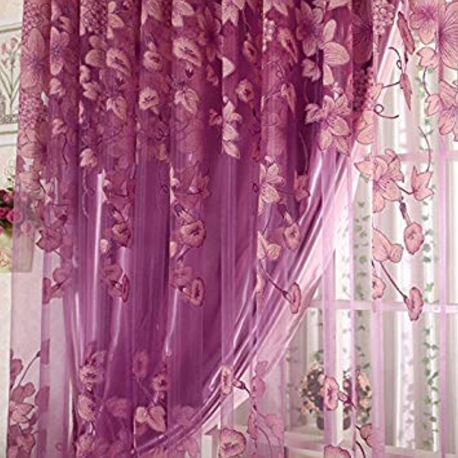 New 95  250 cm Tulle Curtains High-Quality Burnout Screens Designed for The Living Room