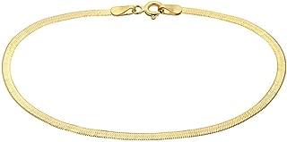 5mm gold herringbone chain