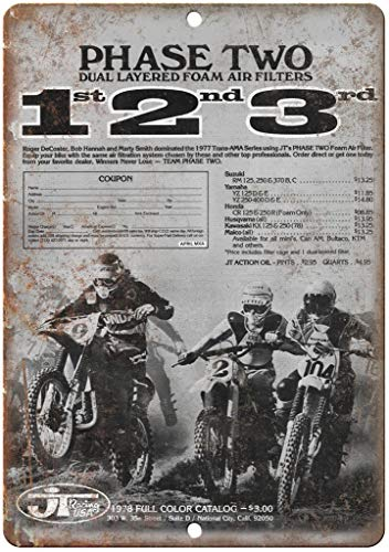 Metal Vintage Tin Sign 12x16inches,JT Racing USA Motorcycle,Retro Vintage Chic Style Decorative Old Home Decor Metal Signs for Bar Pub Gift Heavy Duty Aluminum Signs