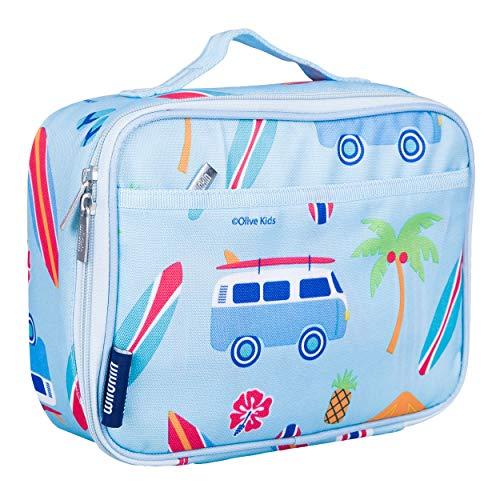 Wildkin 33800 Lunch Box, isoliert, Feuchtigkeitsbeständig, einfach, mit Extras für eine schnelle, einfache Organisation ab 3 Jahren, Olive Ki, Surf Shack, eine Größe zu reinigen