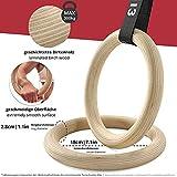 Zoom IMG-2 anelli ginnastica legno con ancoraggio