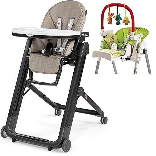 Buy Peg Perego Siesta High Chair - Ginger Grey with Play Bar Bundle