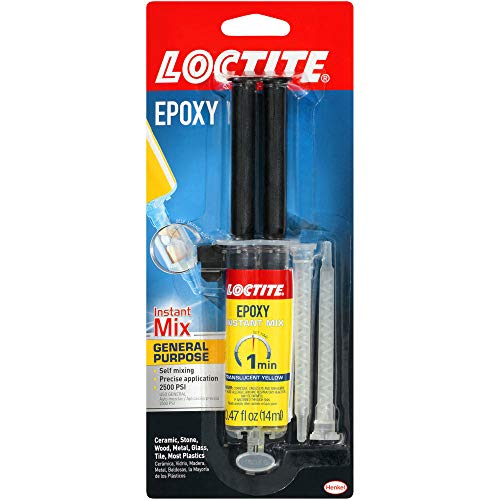 Loctite Epoxy One Minute Instant Mix 0.47-Fluid Ounce Syringe (1366072),Yellow