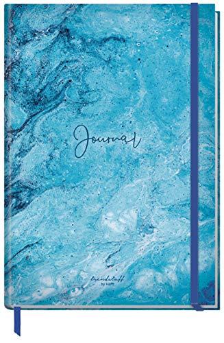 Bullet Journal dotted A4+ mit Gummiband [Blue Marble] 156 Seiten   Notizbuch gepunktet, Skizzenbuch, Tagebuch von Trendstuff by Häfft   nachhaltig & klimaneutral
