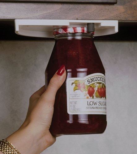 Cans and More Attach To Bottom of Cabinets To Unscrew Jars Can Opener