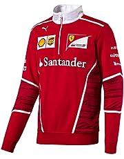 Ferrari Scuderia Mens F1 1/2 Zip Team Sudadera - Rojo - XXL