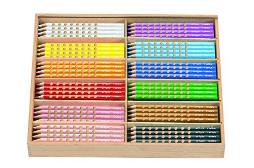 Lyra 3811050 Groove Jumbo Étui en carton K05 5 crayons de couleur laqués 144