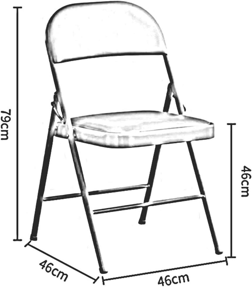 DALL Chaise Pliante Cadre en Métal en Acier Siège Rembourré en PU Chaise De Repos Arrière Conférence des Visiteurs Invités sur L'ordinateur De Bureau(Color:ré) B