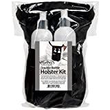 ForPro Double Bottle Holster Kit, Features Durable Cordura Fabric, Adjustable Strap, Includes Two 8 Ounce Bottles, Black