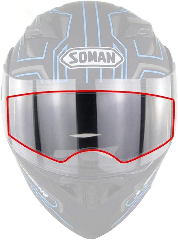 1pc Waterproof Rubber Motorcycle Helmet Lens AntiFog Film Helmet Lens Stickers AntiFog Film