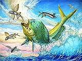 Rompecabezas De 1000 Piezas,Serie De Animales Flying Fish Wooden Family Puzzle Set, Desafío Cerebral Infantil Jigsaw Games, Rompecabezas Intelectuales De Educación Padre-Hijo Juguete, Decoración D