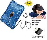 FAMEWORLD Electric Hot Bag Heating Pad with Neck Pillow, Ear Plug, Eye Mask