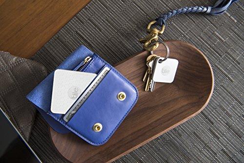 Tile EC-07004 Combo Pack - tile Mate and tile Slim combo pack. Key Finder. Wallet Finder. Item Finder - 4 pack - White