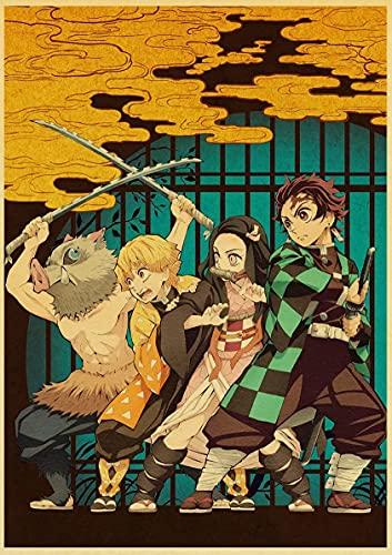 JHGJHK Es una Pintura al óleo Manga Boy, Demon Anime Killer del Artista de Manga japonés Wutou Koshiharu, la Primera opción para la decoración de la habitación para los fanáticos del Anime 13