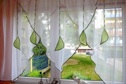 Ines Sehr schöne Fertig Gardine/Gardine/Stores NEU Vorhang/Hell grün
