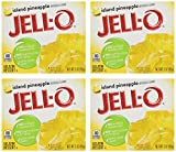 Jell-O Gelatin Dessert, Island Pineapple Pack of four 3-Ounce Boxes No artificial sweeteners No high fructose corn syrup