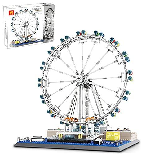Sunbary London Eye - Juego de construcción de 1534 piezas de construcción de bloques de construcción, compatible con casa de Lego