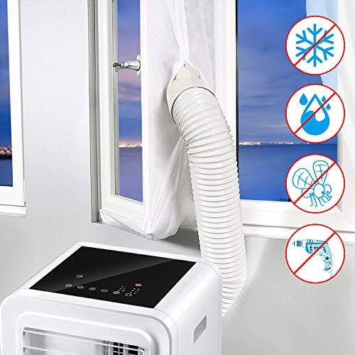 Minterest Kit de Ventana de CA Portátil, 118 Pulgadas Aire Acondicionado Secadora de Ventanas Ventanas Sellado Protectores de Intercambio de Aire Con Cierre Adhesivo para Ventanas Abatibles