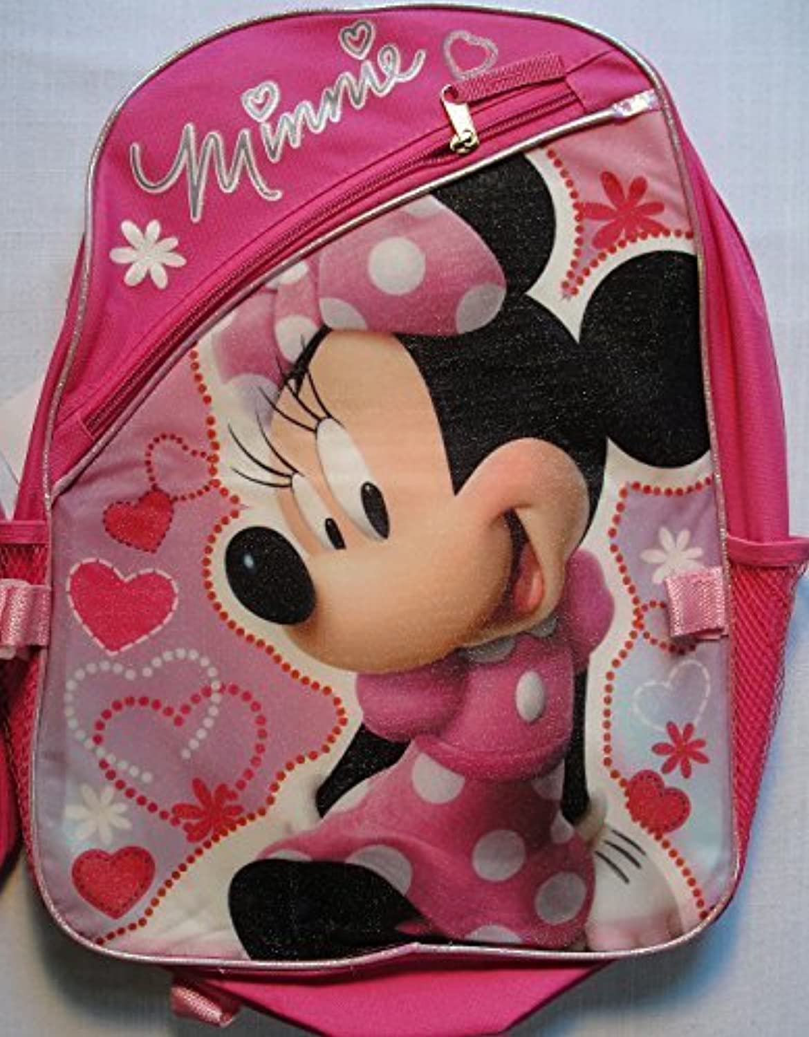 Disney Minnie Mouse Pink 16  Backpack with Lunch Bag by Disney