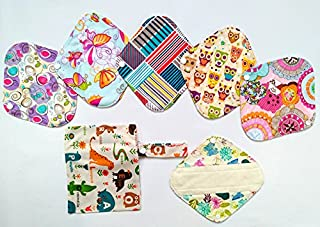 7pcs/Set 1 Wet Bag + 6pcs 8 pulgadas Bambú Gamuza de mama/