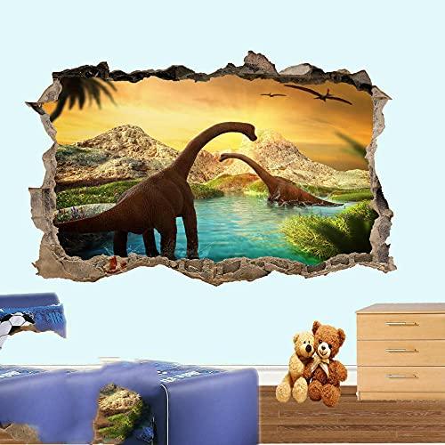 PEGATINAS DE PARED DE DINOSAURIOS ART MURAL SALA DE OFICINA CARTEL DECORACIÓN- 3D arte mural calcomanía - 60x90cm