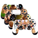 SubClap 4 Packs PS4 Controller Skin, Vinyl Decal Sticker Cover for Sony PlayStation 4 DualShock 4 Wireless Controller (Sexy Beauty)
