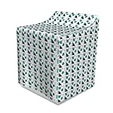 Lunarable Abstract Washer Cover, Dotted Geometric Shapes Triangle Square and Parallelogram, Decorative Accent for Laundromats, 29' x 28' x 40', Green Blue