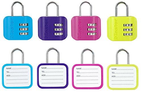 Master Lock cijferslot met adresplaatje - gesorteerde kleuren, 4670EURDCOL