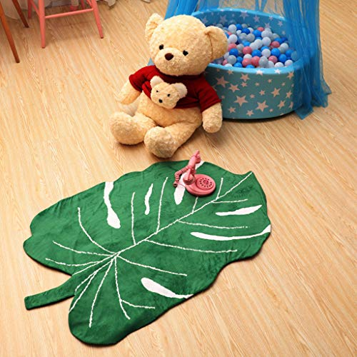 Leaf Type Crawling Mat ,Soft Blanket Baby Play Mat Cotton Soft Baby Sleeping Mats Floor Carpet Baby Gym Activity Room Decor Crawling Blanket Pad