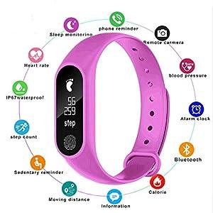 PMFS Reloj Inteligente Relojes para niños Bambini para niñas niños Deporte Bracciale Pulsera Bambino Banda Inteligente Monitor de Fitness Reloj Inteligente White 8