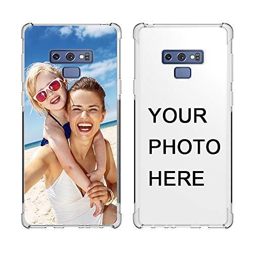 SHUMEI Funda Personalizar para Samsung Galaxy Note 9 diseño de imagen de foto Personalizar regalo de Fotos, absorción de Golpes, Cubierta de TPU Suave y Transparente Para Bricolaje HD Picture