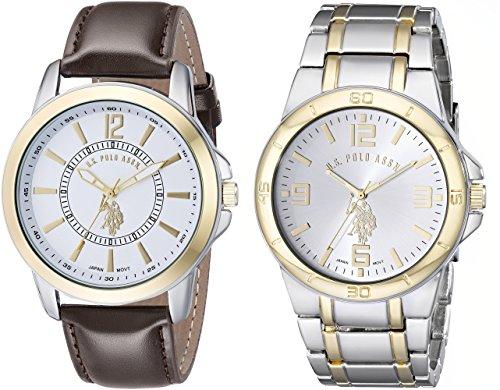 Reloj U.S. Polo Assn. set de 2 Relojes para Hombres 44mm, pulsera de Piel