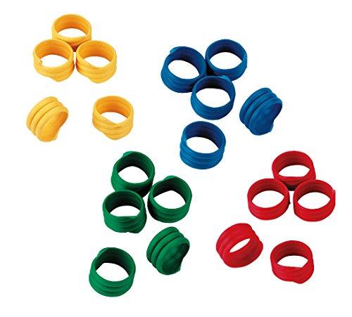 Kerbl Spiralring 12mm, Kunststoff, farblich sortiert, 100St./Pack