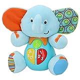 winfun - Peluche Elefante para bebés que habla y luces de colores, Idioma: Español (85178)