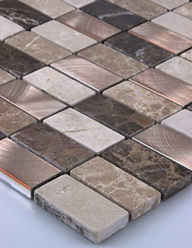 Mattonelle di mosaico in vetro a mosaico mosaico piastrelle di vetro in marmo Alluminio Bronzo Nuovo