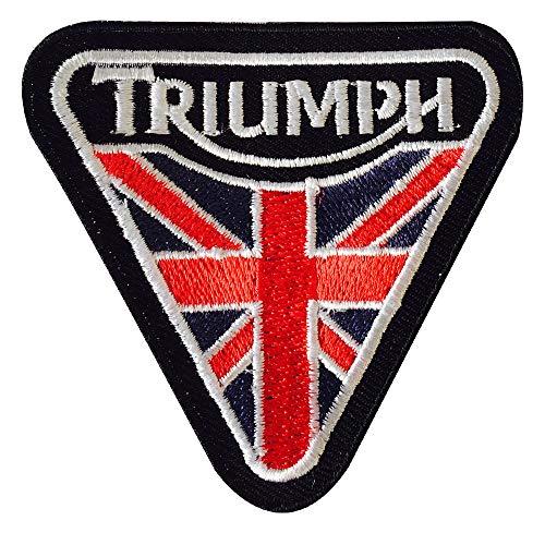 Real Empire Logo de motard brodé avec inscription « Triumph » - Écusson à coudre ou à thermocoller