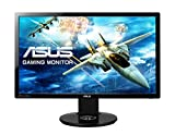 ASUS VG248QE Serie VG248 - Monitor Gaming de 24' Full-HD (1920x1080, 1 ms, Free-Sync, HDMI x2, DisplayPort, D-Sub Flicker-Free, Panel TN, altavoces, con base ergonómica), color Negro