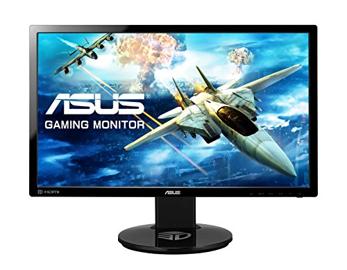 ASUS VG248QE 24 Inch FHD (1920 x 1080) Gaming Monitor, 1 ms, Up to 144 Hz, DP, HDMI, DVI-D, Black