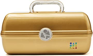 Caboodles Galaxy Glam - On-The-Go Girl Makeup Organizer, Gold Shimmer