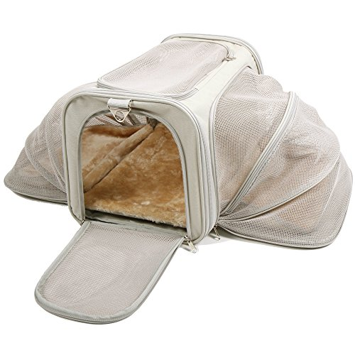 Jet Sitter Expandable Pet Dog Cat Carrier - Soft Sided Carriers Cats...
