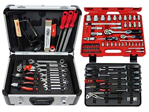 Famex 728-14 Werkzeugkoffer Komplettset High-End Qualität mit 66-teiligem Steckschlüsselsatz