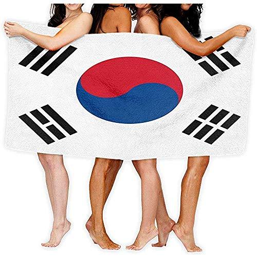 Edmun Toalla de Piscina Bandera de Corea del Sur Moda sobre Toallas de baño de Playa de Gran tamaño 80X130cm