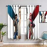 Elliot Dorothy - Cortinas opacas para dormitorio fortnite x star wars con ojales, cortinas de oscurecimiento de habitación (42 x 63 cm)